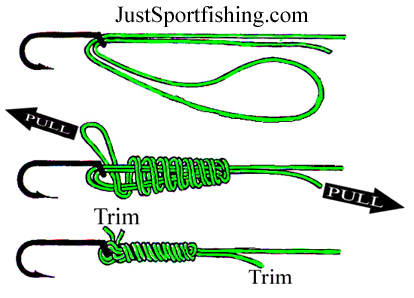 Fishing knots for Braided fishing line knot