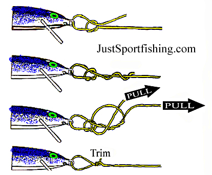 Fishing knots diagrams for Tying fishing line to reel
